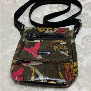 Sakroots Peace Nature Happy & Free Multipocket Bag